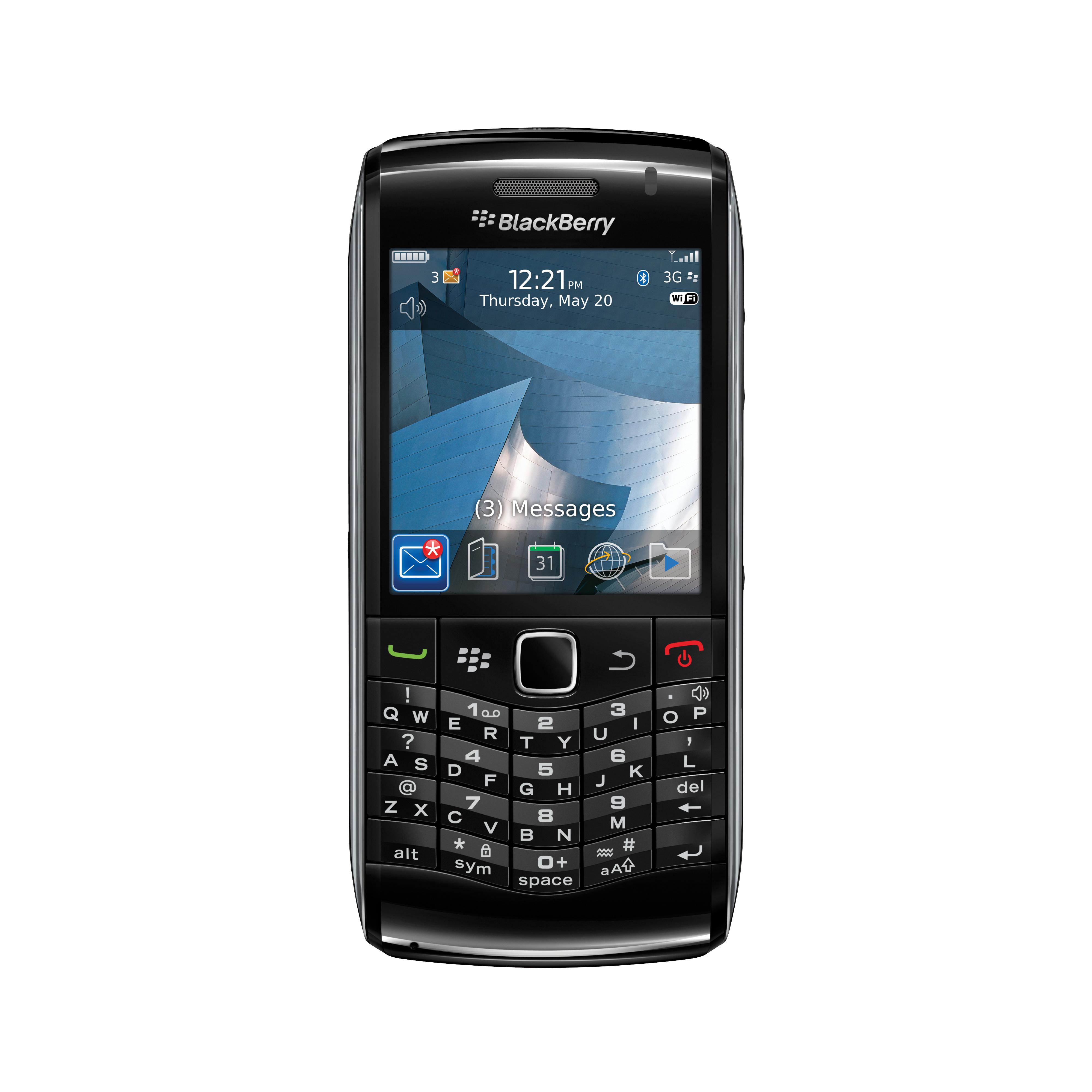 BlackBerry Pearl 3G, a chic look. 9100Pearl_blk_ENG_Gen_FrontNoShadow