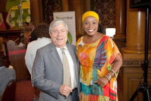 Colette Burnett, (r), and Brooklyn Borugh President Marty Markowitz. (Lerone Ault Photography)