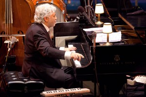 Master pianist, Monty Alexander, in performance mode.