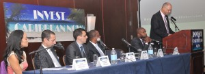 Panellists at the 2012 Invest Caribbean Now forum in NYC in June 2012. (Sharon Bennett image)
