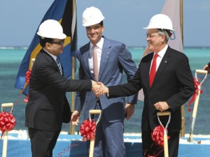 Li Ruogu of the Export-Import Bank of China finances a resort in the Bahamas ((AP Photo/Tim Aylen)