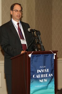 Mr. Alan Loewenstein, managing partner of Wedgewood Investment Group delivered the keynote address at the 2013 Avalon Invest Caribbean Now forum in New York city on June 5, 2013. (Hayden Roger Celestin image)