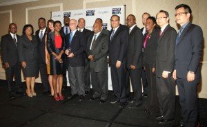 Caribbean governments congratulate Royal Caribbean International for its 2013 award along with ICN Founder Felicia Persaud and Dr. Grace Lappin, managing director of Avalon Partners and this year's marquee sponsor. (Hayden Roger Celestin image)