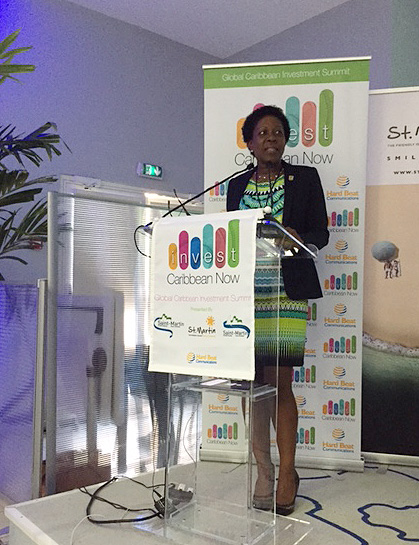 Hon. Jeanne Rogers-Vanterpool, President of the Office of Tourism of Saint Martin, made the disclosure to delegates gathered at the elite invitation only Invest Caribbean Now conference, held on the island from September 24-25th.
