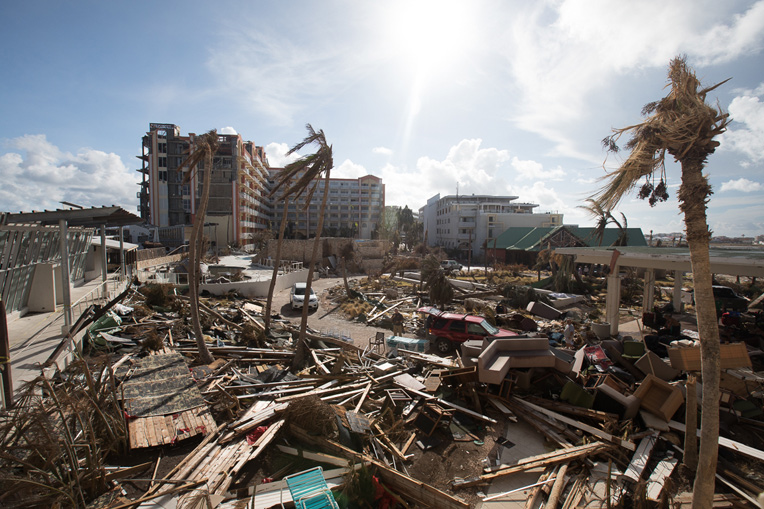 St. Martin after Hurricane Irma. (Samaritan Purse image)