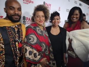 (left to right) Executive Producer Lisa Wickham, Lead Actor Nickolai Salcedo, Director Frances-Anne Solomon
